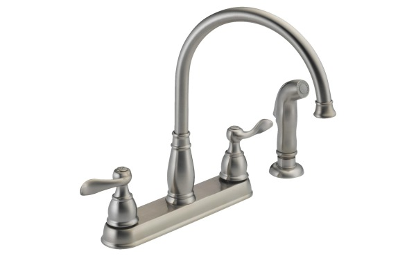Delta Kitchen Faucet with Side Spray, Stainless